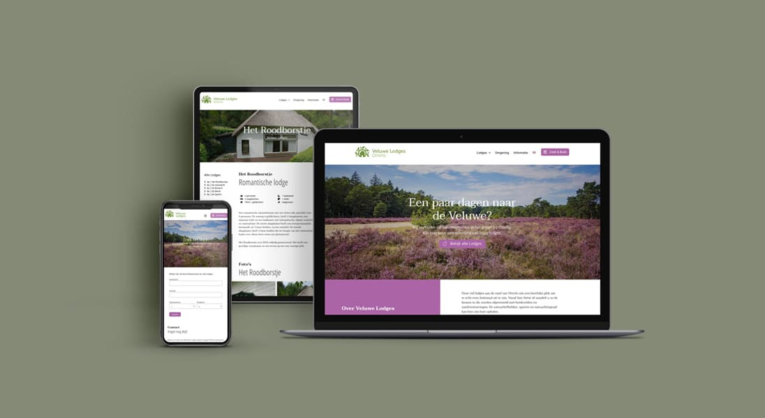 Responsive design Veluwe Lodges Otterlo