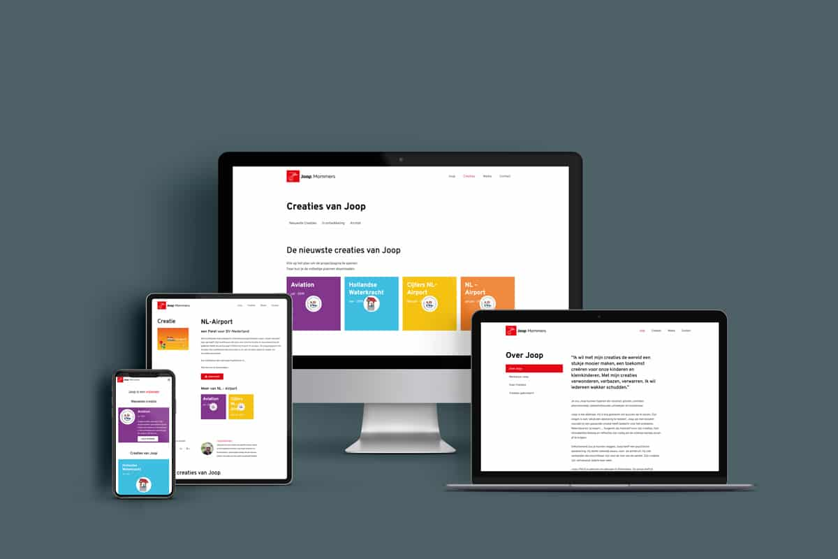 Joop Mommers responsive webdesign Design Dojo